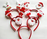 Обруч новогодний на пружине, фото 1