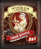 ТМ Петровская слобода Кофе 3 в 1 Темный шоколад (25 стик) 18 г 20 шт/уп