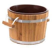 Запарник для бани дубовый 20 л ( пластиковая вставка)