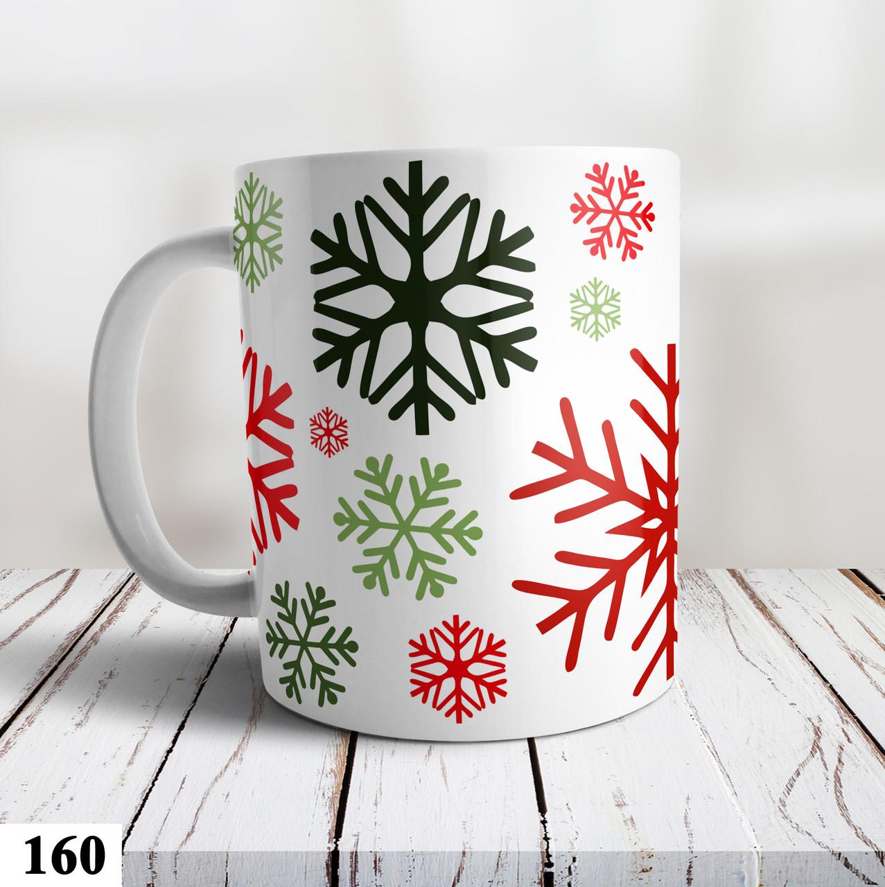Чашка с принтом Снежинки