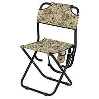 Складной стул со спинкой Богатырь Песочный камуфляж (Time Eco TM)