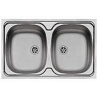 Pyramis 100117601 Гладкая / матовая кухонная раковина с двойной чашей