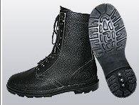 Ботинки (берцы) юфтевые ВФ утепленные (Мех) Бортопрошивные черные