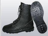 Ботинки (берцы) юфтевые ВФ утепленные (Мех) Бортопрошивные черные, фото 2