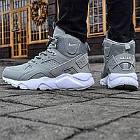 """Кроссовки зимние Nike Huarache Winter """"Gray"""" (реплика А+++ ), фото 1"""