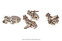 Деревянные пазлы-головоломки «Фиджеты-Летательные аппараты». Набор из 4 шт., фото 1