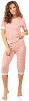 Бавовняна жіноча піжама (футболка і бриджі) 0198/199