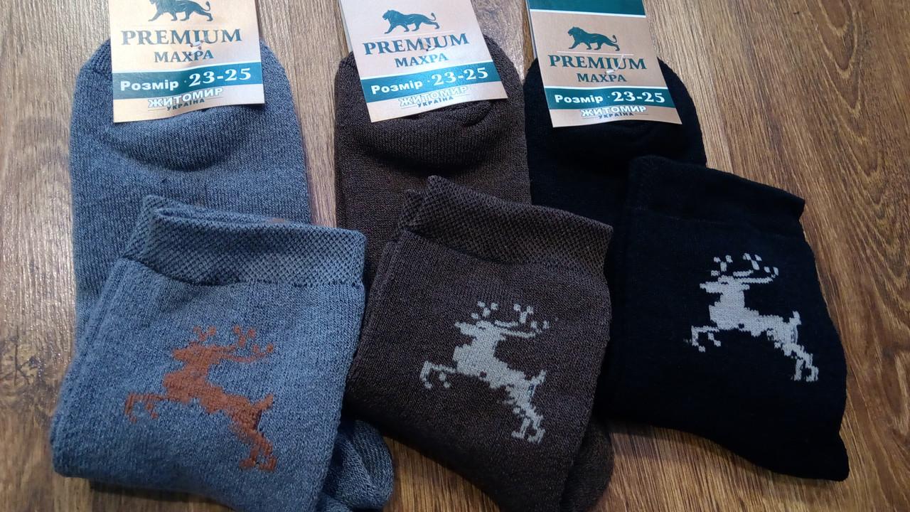 """Шкарпетки жіночі махрові,""""Premium Олені"""""""