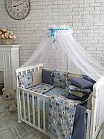 """Комплект в кроватку Baby Design """"Тедди"""" ПРЕМИУМ (натуральный наполнитель - ekotton), фото 1"""