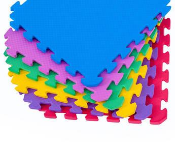Коврик-пазл EVA  Радуга 50 см на 50 см 12 мм  , цена за один пазл