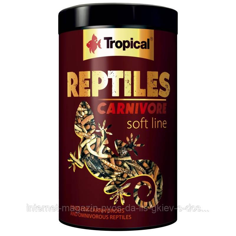 Tropical REPTILES CARNIVORE soft line корм для плотоядных и всеядных пресмыкающихся, 250мл