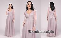 Красивое блестящее вечернее платье в пол. Цвета!, фото 1