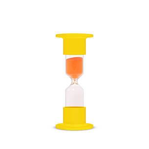 Часы песочные лабораторные 1 минута, стекло, фото 2