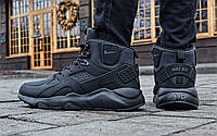 "Кроссовки зимние Nike Huarache Winter ""Black"" (реплика А+++ ), фото 1"