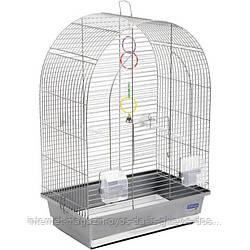 Клетка Арка ХРОМ для мелких декоративных птиц ТМ Природа 44х27х65см