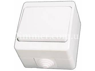 Выключатель одноклавишный NEMLIER белый (12шт/уп)