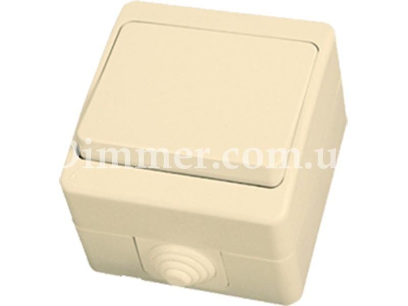 Выключатель одноклавишный NEMLIER крем (12шт/уп)