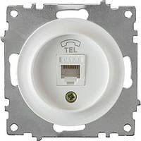 Механизм розетки телефонной RJ11 ONE KEY ELECTRO Florence  (Белый)