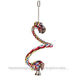 Trixie Spiral Rope Perch спиральный канат для птиц 50см