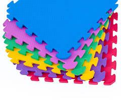 Коврик-пазл Мозаика 30 см на 30 см 10 мм из Эвы, цена за один пазл