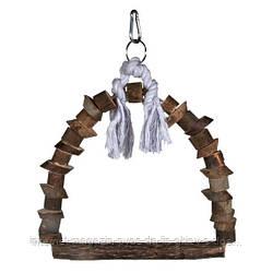 Trixie Natural Living Arch Swing качели-арка для птиц из натурального дерева 22х29см