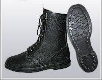 Ботинки (берцы) юфтевые ВФ утепленные (Мех) Гвоздевые черные, фото 2