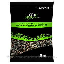 Aquael Aqua Decoris MULTICOLORED GRAVEL натуральный многоцветный гравий 3-5мм, 2кг