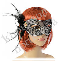 Венецианская маска Тайна (черная), фото 1