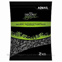 Aquael Aqua Decoris BASALT GRAVEL натуральный базальтовый гравий 2-4мм, 2кг