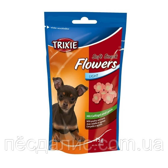 Тrixie Soft Snack Flowers мягкое лакомство с ягненком и дичью, 75г