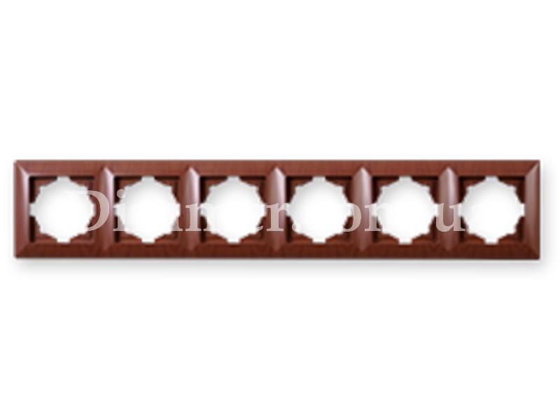 Рамка 6 - горизонтальная GUNSAN VISAGE Орех
