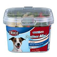 Trixie Denta Fun Dentinos Mini лакомство для гигиены полости рта собак, 140г
