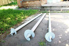 Свая винтовая одновитковая 133 мм длина 1000 мм