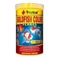 Tropical GOLDFISH COLOR хлопьевидный красящий корм для золотых рыбок и молодых карпов кои, 1л