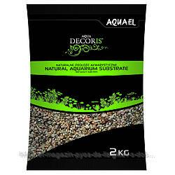 Aquael Aqua Decoris MULTICOLORED GRAVEL натуральный многоцветный гравий 1.4-2мм, 2кг