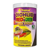 Корм Tropical CICHLID RED and GREEN LARGE STICKS палочки со спирулиной и астаксантином для крупных цихлид, 1л