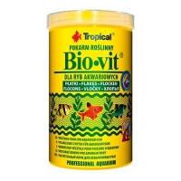Tropical BIO-VIT основной растительный корм в виде хлопьев для рыб, 100мл