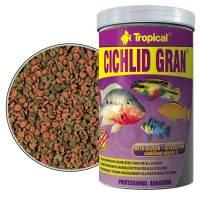 Основной корм для рыб Tropical Cichlid Gran гранулы для цихлид для яркой окраски, 1л