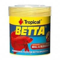 Tropical Betta основной корм с крилем и мотылем для петушков, 50мл