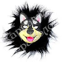 Маска виниловая собака Хаски (черная)