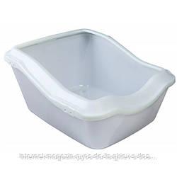 Trixie Cleany Cat Litter Tray глубокий туалет для кошек белый 54х45х21см