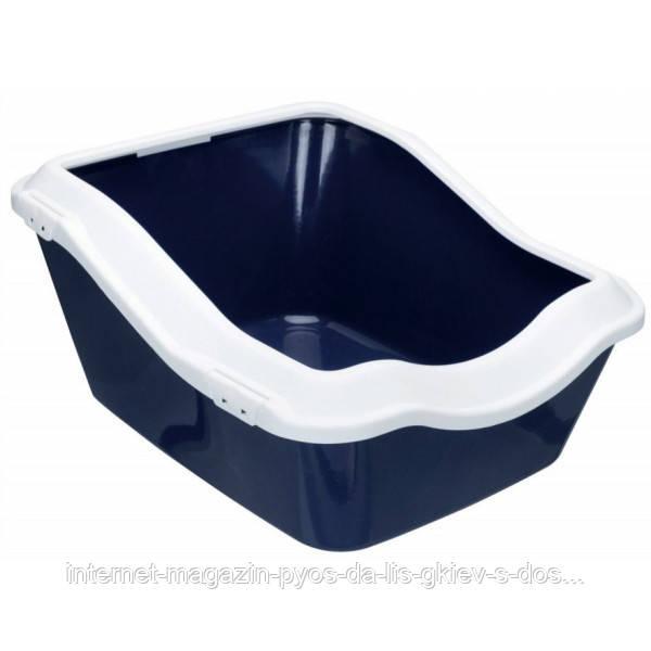 Trixie Cleany Cat Litter Tray глибокий туалет для котів темно-синій 54х45х21см