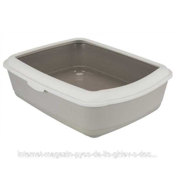 Trixie Classic Litter Tray туалет с бортом для кошек бежевый 47х37х15см