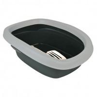 Trixie Carlo Litter Tray туалет для кошек 58х38х17 см серый/светло-серый