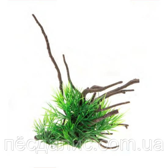 Aquael рослина на корені пластик В2207 24х12х16см