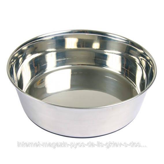 Тrixie Stainless Steel Bowl миска стальная на резиновом основании 1л