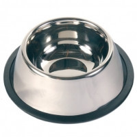 Тrixie Stainless Steel Long-Ear Bowl миска стальная для длинноухих собак 0,9л/Ø 15 см