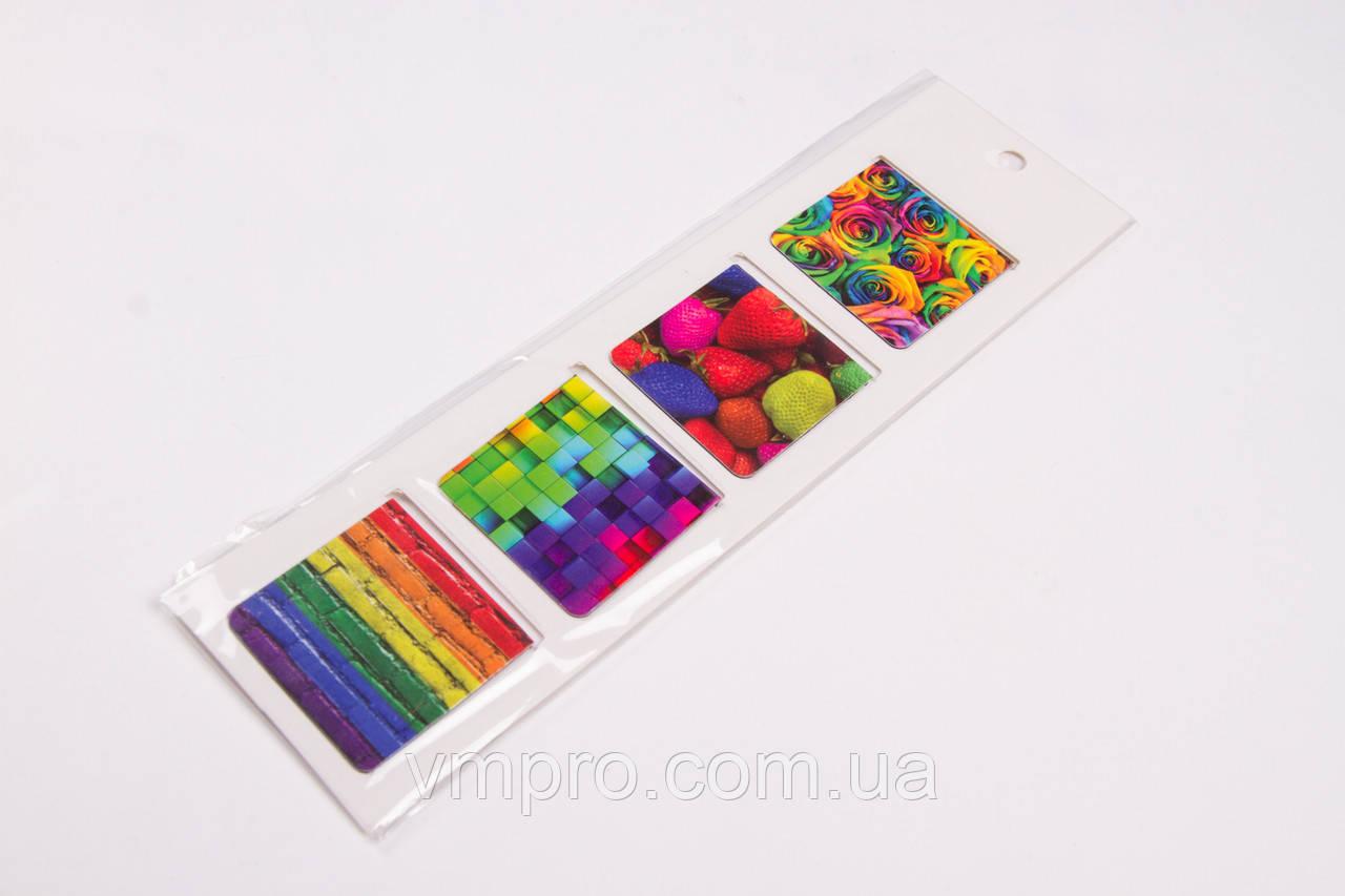 Закладка для книг магнитная, квадратная №23980