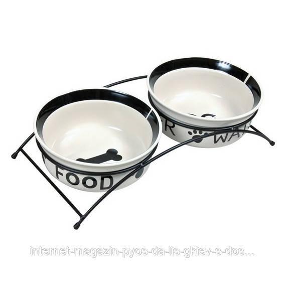 Тrixie Eat on Feet Ceramic Bowl Set керамические миски на подставке 1,6л/20 см