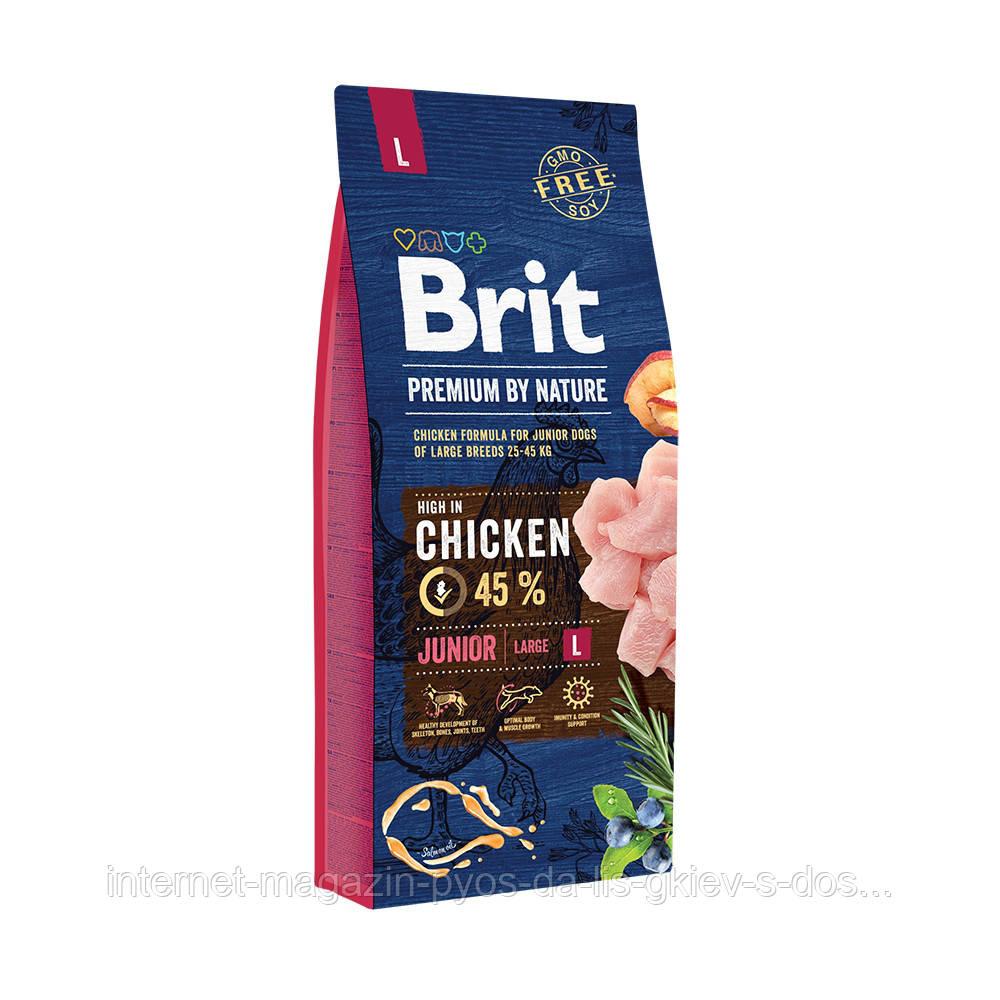 Brit Premium by Nature Junior L корм для щенков крупных пород, 15кг
